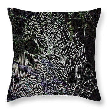 Throw Pillow featuring the photograph Night Lines by EricaMaxine  Price