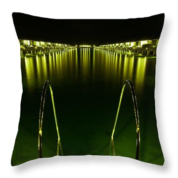 Night. One Day In Paradise. Maldives Throw Pillow by Jenny Rainbow