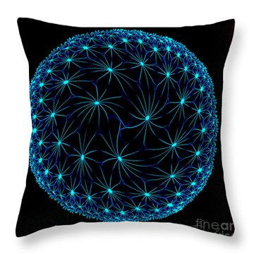 Night Spiders Throw Pillow by Danuta Bennett