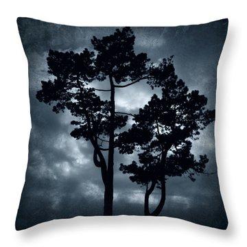 Night Tree Throw Pillow by Svetlana Sewell