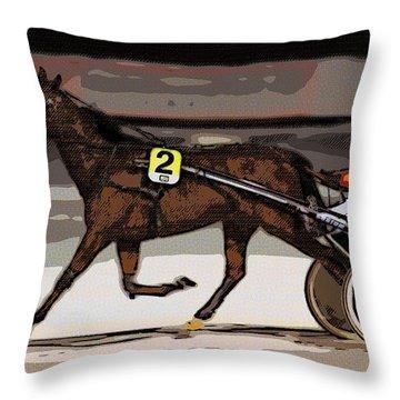 Night Trotter Throw Pillow