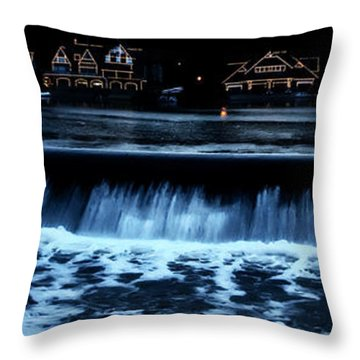 Nighttime At Boathouse Row Throw Pillow by Bill Cannon