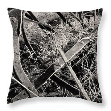 Throw Pillow featuring the photograph No More Plowing by Ron Cline