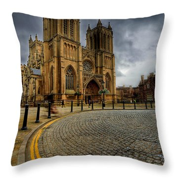 No Parking Throw Pillow by Adrian Evans