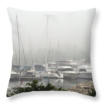 Throw Pillow featuring the photograph No Sailing Today by Kay Novy