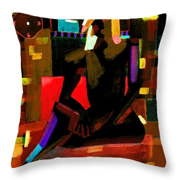No Time Like The Present Throw Pillow