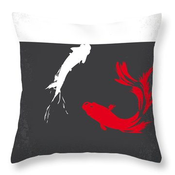 No073 My Rumble Fish Minimal Movie Poster Throw Pillow