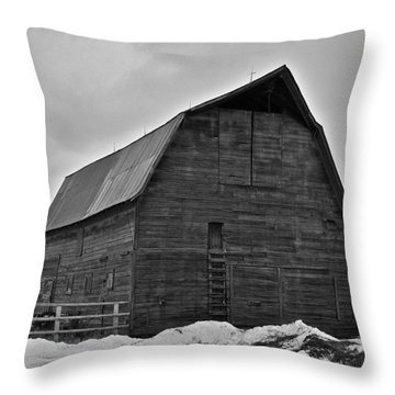 Throw Pillow featuring the photograph Noble Barn by Eric Tressler