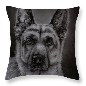 Noble - German Shepherd Dog  Throw Pillow