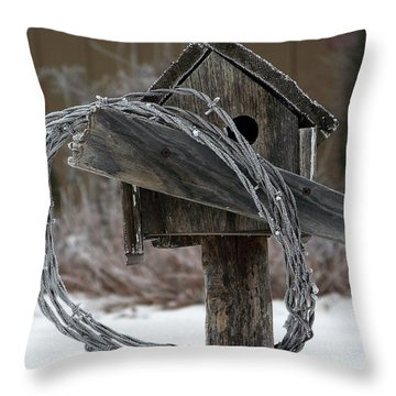 Nobody Home Throw Pillow by Dorrene BrownButterfield