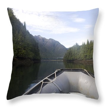 Nobody,boats, Ropes, Islands,horizontal Throw Pillow by Taylor S. Kennedy