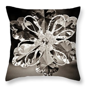 Noir Reflections Throw Pillow by Sara Frank