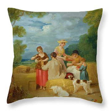 Noon Throw Pillow by Francis Wheatley
