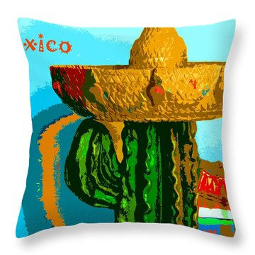 Throw Pillow featuring the photograph Nopal by Everette McMahan jr