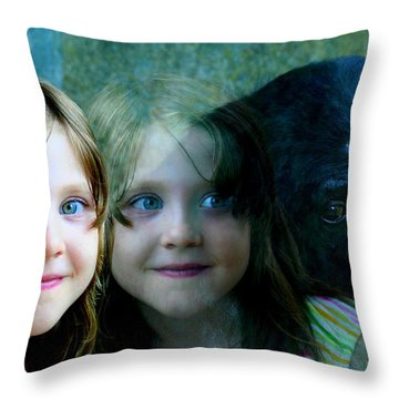 Nora's Reflection Throw Pillow by Laurel Talabere