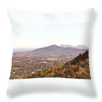 North Caolina Pilot Mountains Throw Pillow