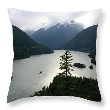 North Cascades Throw Pillow