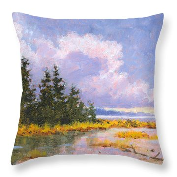 North Shore Throw Pillow by Richard De Wolfe