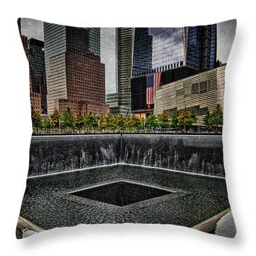 North Tower Memorial Throw Pillow by Chris Lord