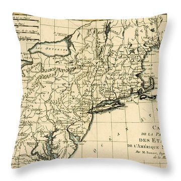 Northeast Coast Of America Throw Pillow by Guillaume Raynal