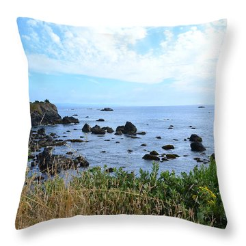 Northern California Coast2 Throw Pillow by Zawhaus Photography