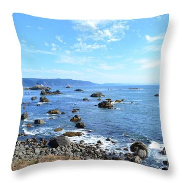 Northern California Coast3 Throw Pillow by Zawhaus Photography