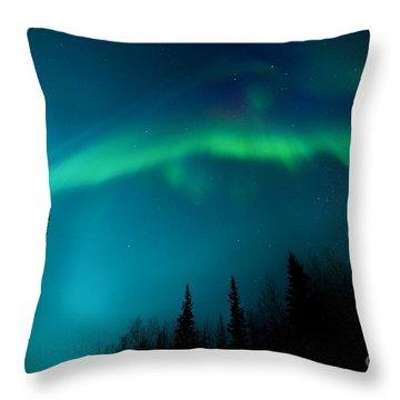 Northern Magic Throw Pillow by Priska Wettstein