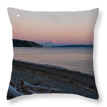 Northwest Evening Throw Pillow by Mike Reid