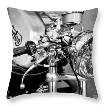 Norton Dominator Throw Pillow