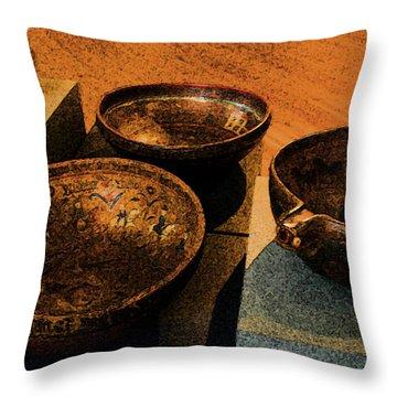 Norwegian Bowls Throw Pillow by Nina Fosdick