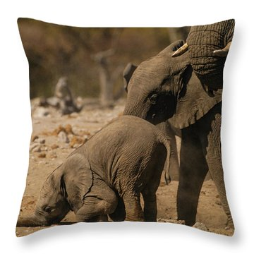 Nose Bump Throw Pillow