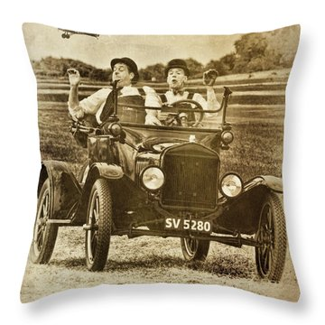 Not Likely Laurel And Hardly Hardy Throw Pillow