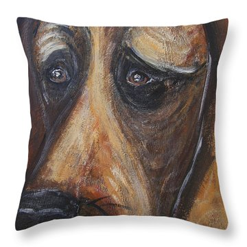 Nothin But A Hunddog Throw Pillow