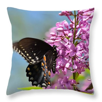 Nothing Says Spring Like Butterflies And Lilacs Throw Pillow