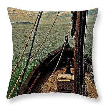 Notorious The Pirate Ship 6 Throw Pillow
