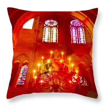Notre Dame Cathedral - Paris France Throw Pillow by Anna Porter