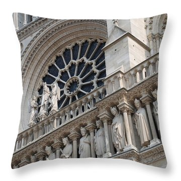 Throw Pillow featuring the photograph Notre Dame Details by Jennifer Ancker