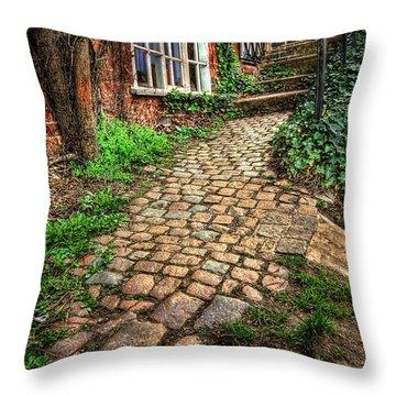 Nottingham Bridge Footpath Throw Pillow by Yhun Suarez