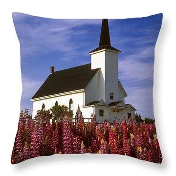 Nova Scotia Church Throw Pillow