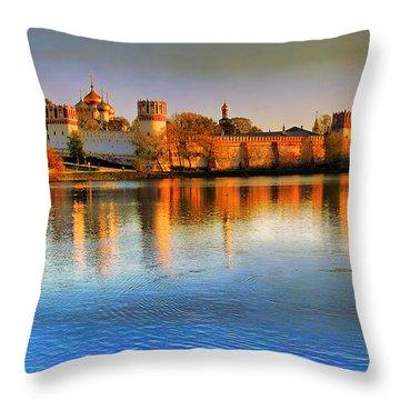 Novodevichy Convent Throw Pillow