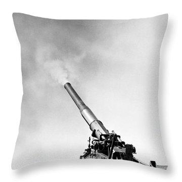 Nuclear Artillery, 1950s Throw Pillow by Granger