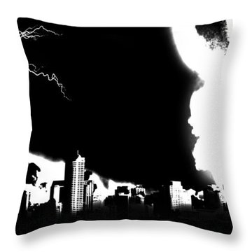 Nuclear Fallout Throw Pillow by Russell Clenney