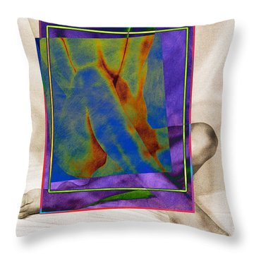 Nude 3 Throw Pillow by Mauro Celotti