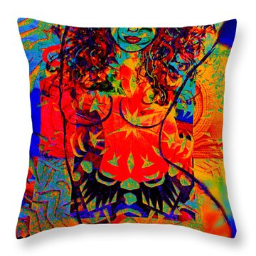 Nude Goddess Throw Pillow by Natalie Holland
