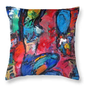 Nude In Colors Throw Pillow