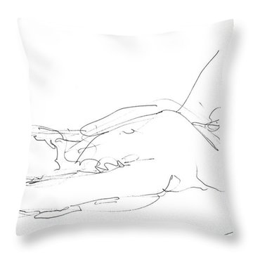 Nude-male-drawings-12 Throw Pillow