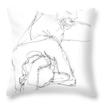 Nude Male Drawings 7 Throw Pillow