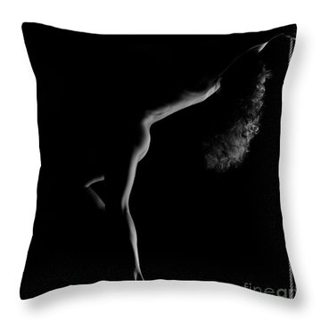 Nude Woman Body Outline Throw Pillow by Oleksiy Maksymenko