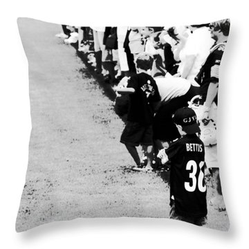 Number 1 Bettis Fan - Black And White Throw Pillow