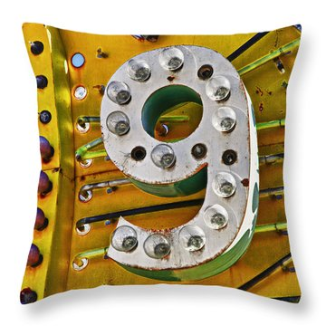 Number Nine Throw Pillow by Garry Gay